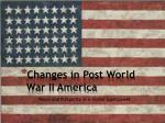changes in post world war ii america
