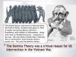 the domino theory was a critical reason for us intervention in the vietnam war