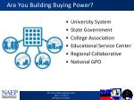 are you building buying power