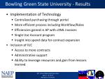 bowling green state university results