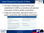 inter university council of ohio