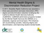 mental health stigma discrimination reduction project1