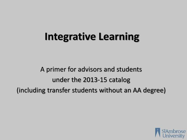 integrative learning n.