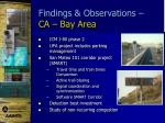 findings observations ca bay area1