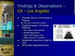findings observations ca los angeles1