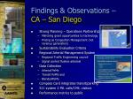 findings observations ca san diego