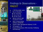 findings observations mndot2