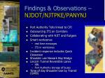 findings observations njdot njtpke panynj1