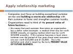 apply relationship marketing