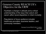 genesee county reach us s objective for the urw