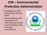 epa environmental protection administration
