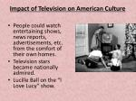 impact of television on american culture
