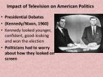 impact of television on american politics