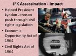 jfk assassination impact