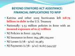 beyond stafford act assistance financial implications to nfip