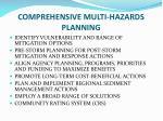 comprehensive multi hazards planning
