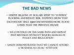 the bad news