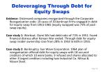 deleveraging through debt for equity swaps