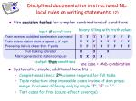disciplined documentation in structured nl local rules on writing statements 2