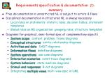 requirements specification documentation 1 summary