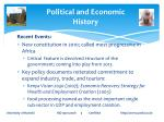 political and economic history