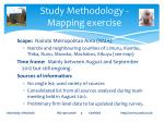 study methodology mapping exercise