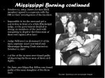 mississippi burning continued
