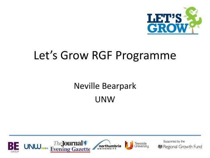 let s grow rgf programme n.