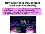 how a business may protect itself from uncertainly