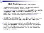 hall bookings cont d jan reeves