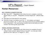 vp s report gayle stewart