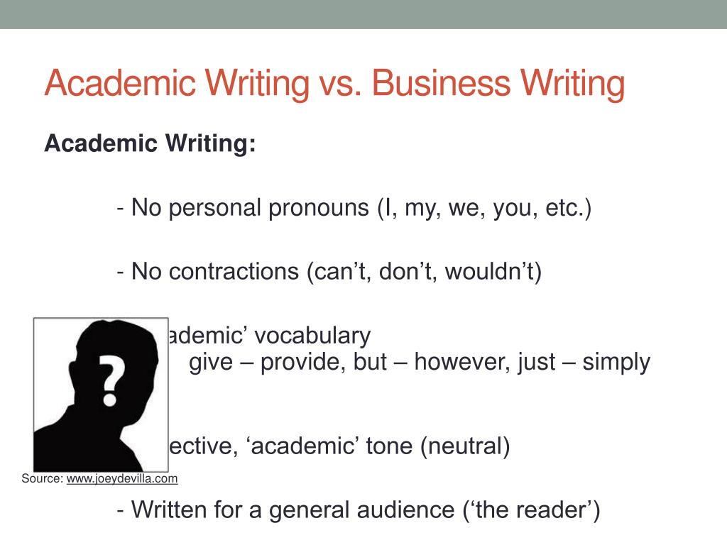 Difference Between Business And Academic Writing