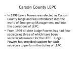 carson county lepc