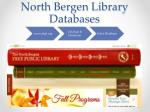 north bergen library databases