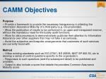 camm objectives