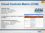 cloud controls matrix ccm