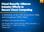 cloud security alliance industry efforts to secure cloud computing