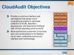 cloudaudit objectives