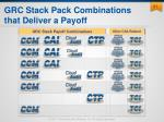 grc stack pack combinations that deliver a payoff