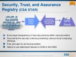 security trust and assurance registry csa star