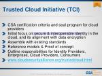 trusted cloud initiative tci
