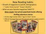 new reading habits