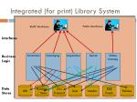 integrated for print library system