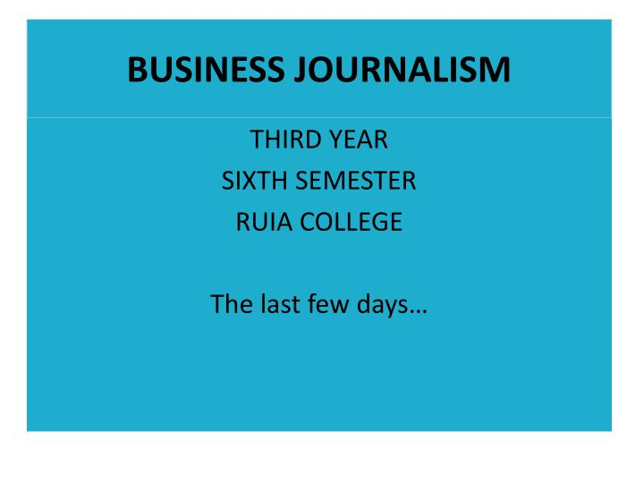 business journalism n.