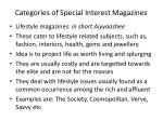 categories of special interest magazines
