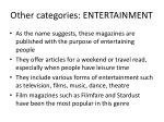 other categories entertainment