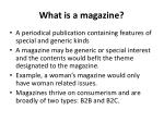 what is a magazine