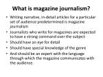 what is magazine journalism