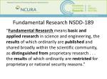 fundamental research nsdd 189