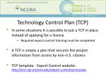 technology control plan tcp